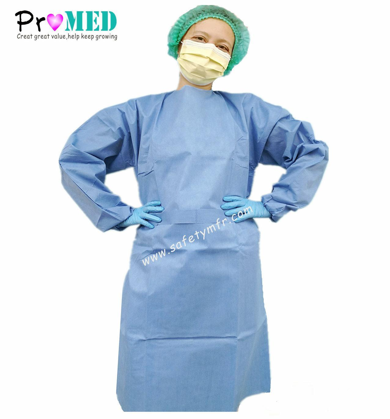 China CE Certified Non-Woven Hospital Doctor Gown - China Disposable ...