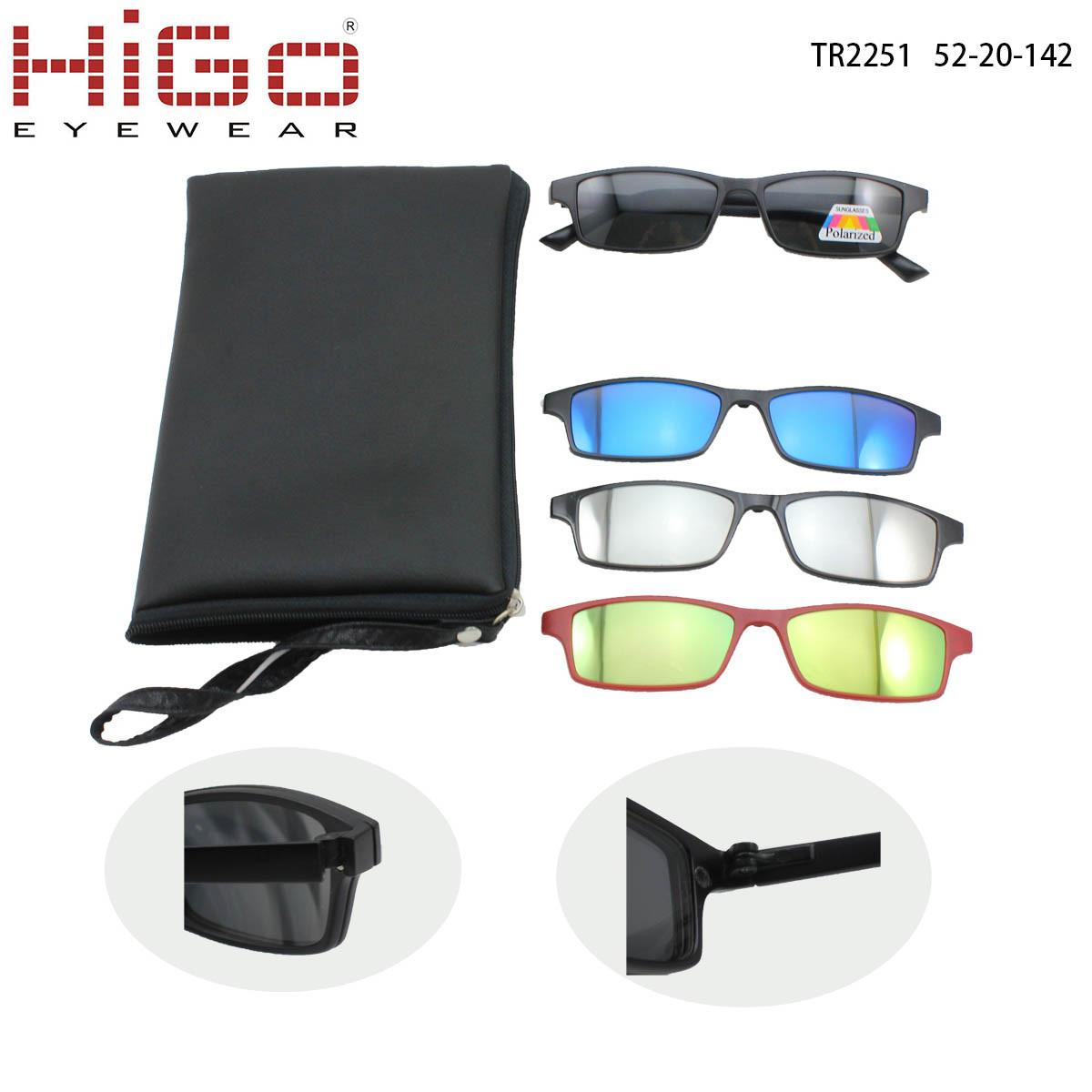 China Tr90 Glasses 1 Frame Polarized 4 Clip on Sunglasses Photos ...