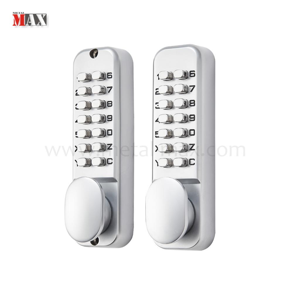 [Hot Item] Traditional Mechanical Keyless Password Double Sided Push Button  Keypad Digital Combination Door Lock
