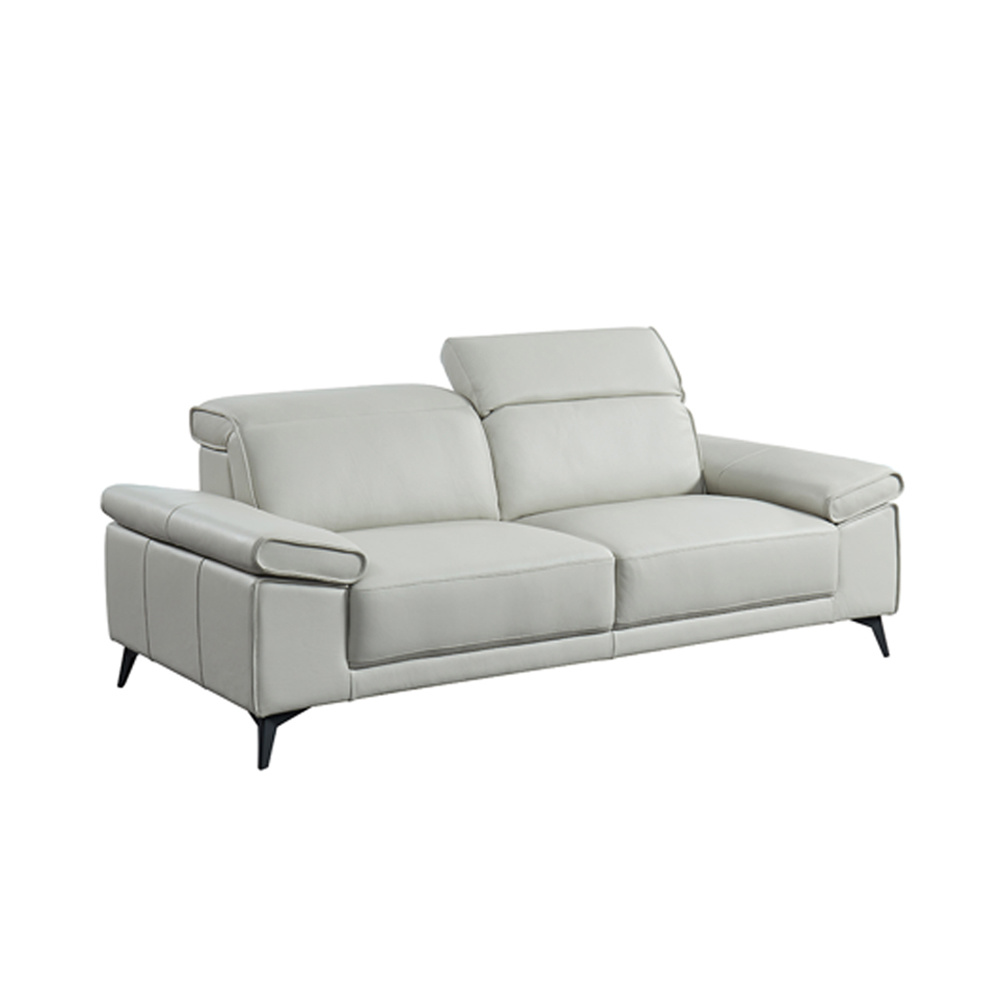 White Leather Sectional Sofa [hot item] american style home furniture white leather sectional sofa