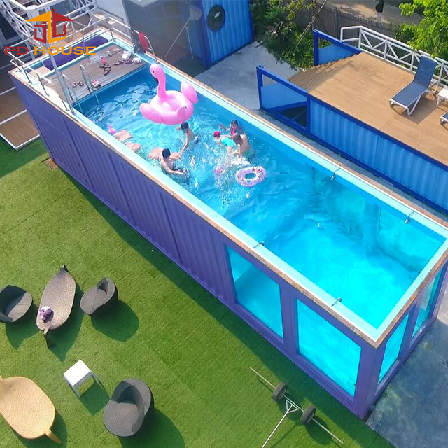 China Factory Sale 20ft 40ft Portable Container Swimming Pool China Shipping Container Swimming Pool And Container Swimming Pool Price