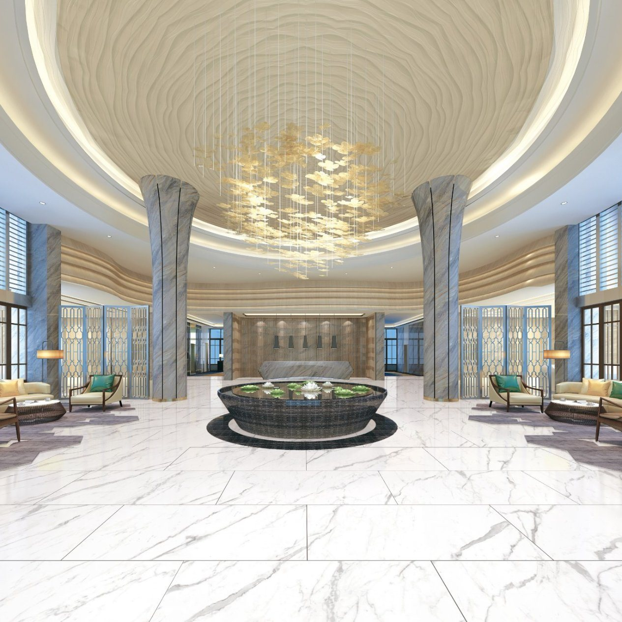 China Luxury Calacatta Marble Large Format Porcelain Floor Tile for Project  - China Floor Tile, Tile