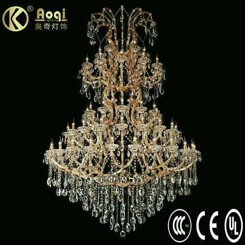 Newest Modern Design Luxury Crystal Chandelier Lamp (AQ50004-24+18+12+12+6)