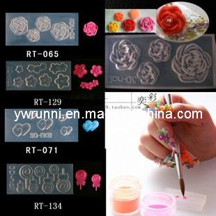 China 134 Designs 3D Acrylic Nail Art Molds - China Nail ...