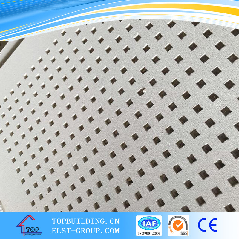 Perforated PVC Gypsum Ceiling Tile/PVC Acoustic Gypsum Ceiling Tile