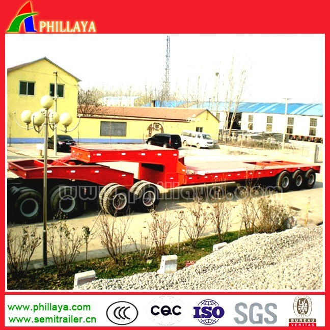 80-100tons Heavy Duty 2line 4axle Lowbed Dolly Semi Trailer pictures & photos