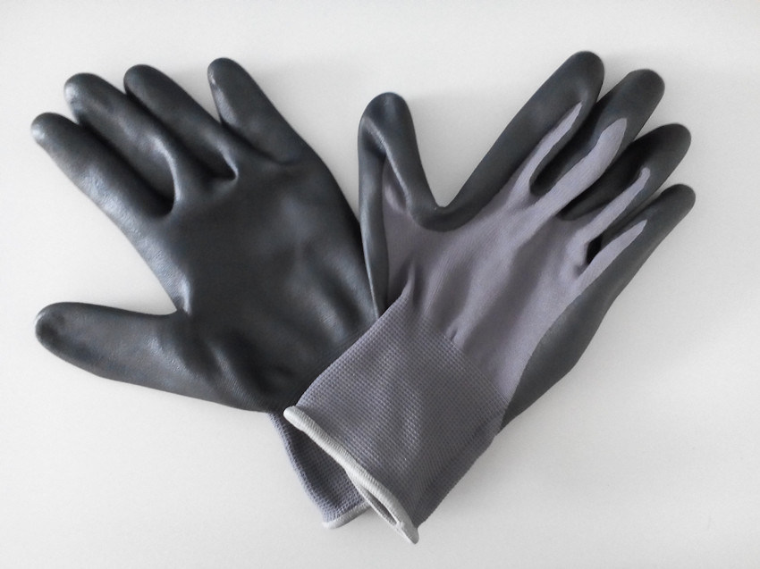 Nylon Shell Nitrile Coated Microthin Foam Safety Work Gloves (N5501)