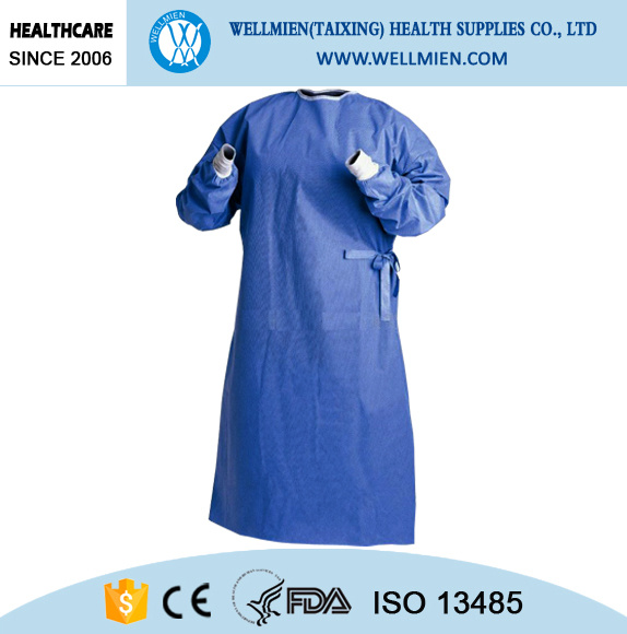 Disposable Repellent Water and Blood Surgical Gown pictures & photos