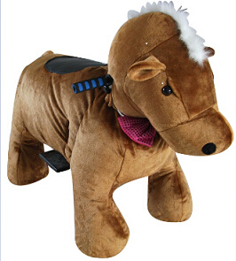 [Hot Item] Mechanical Walking Horse Plush Riding Horse Toys for Kids Ride  on Toys Car Ride on Car