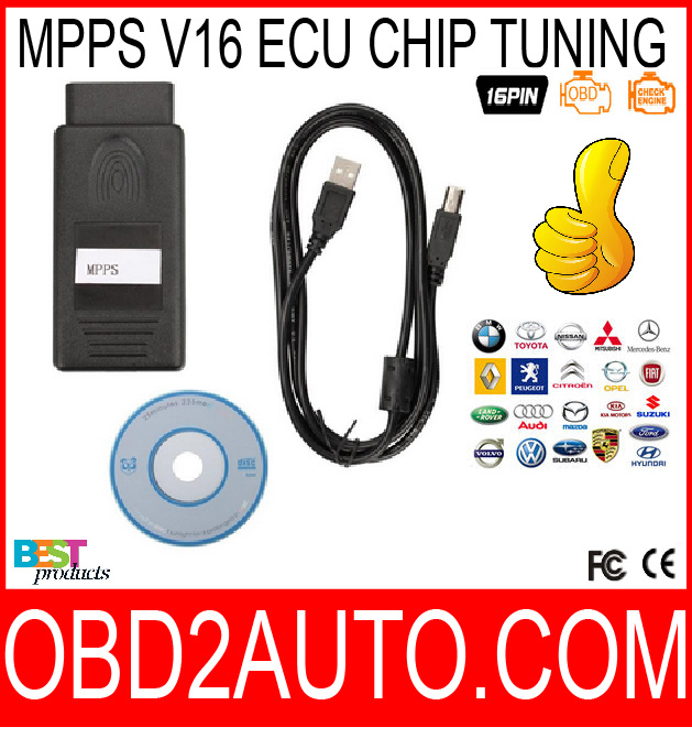 China Mpps V16 Mpps ECU Chip Tuning for EDC15 EDC16 EDC17