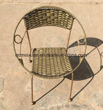 China Balcony Leisure Wrought Iron Small Tea Table Rattan Chair
