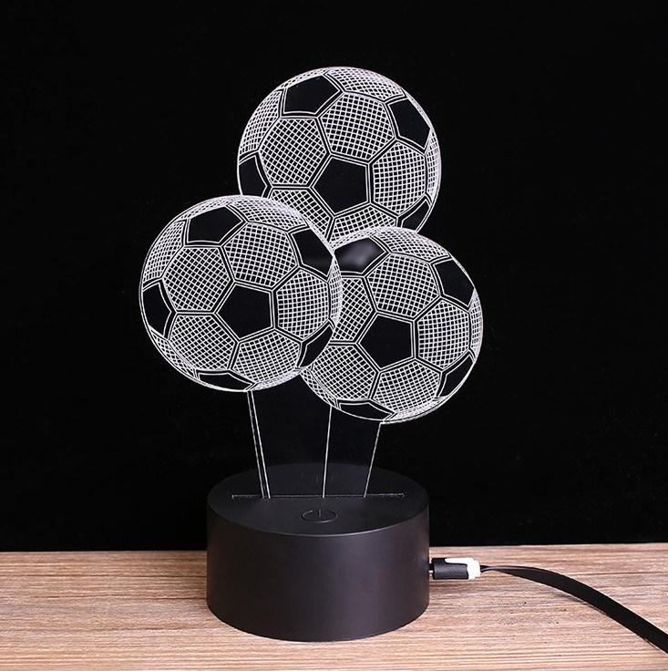Awesome 3D Desk Lamp Soccer Lamp LED Lighting 7color Changing