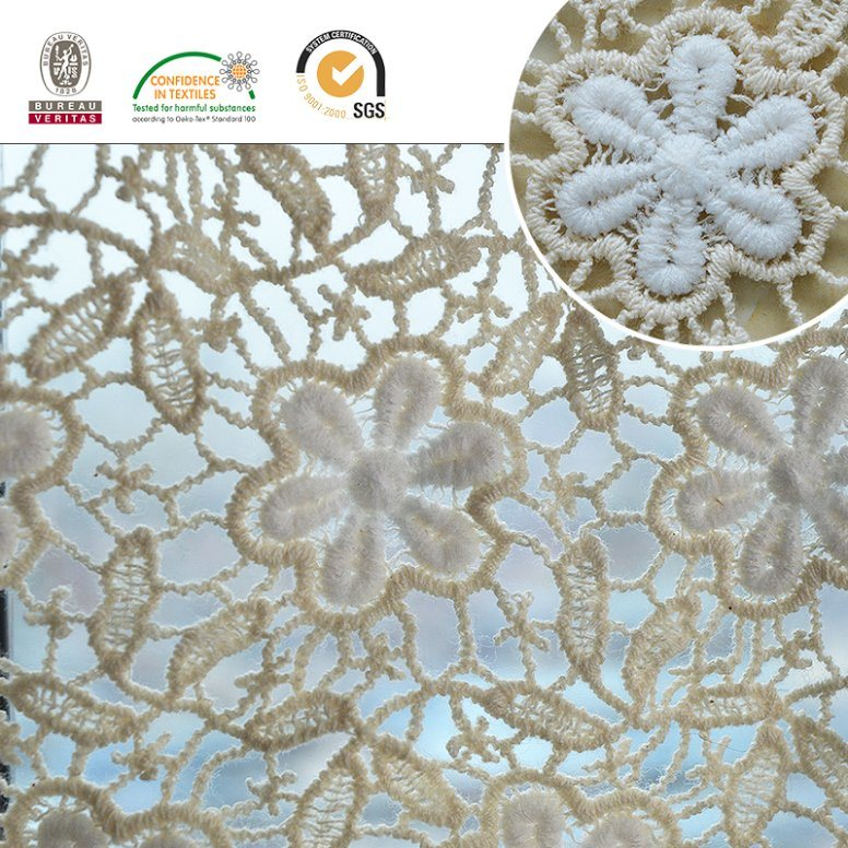2017 Fashion New Fabric Jacquard Embroidery Polyester Lace pictures & photos