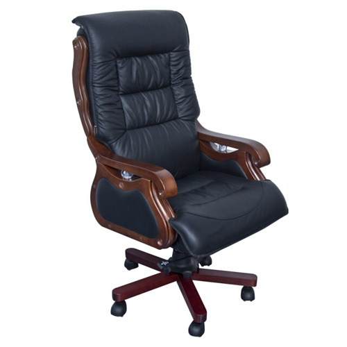 Real Leather Classic Office Chairs With Armrest
