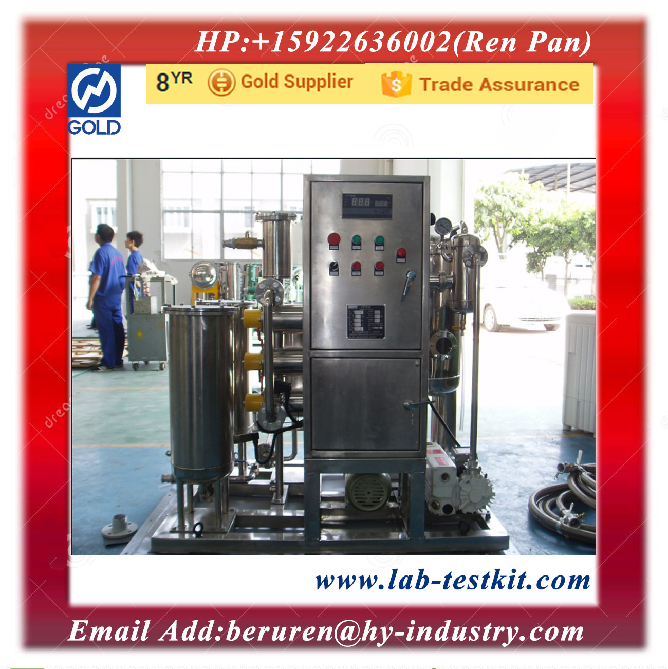 Stainless Steel Fire Resistant Oil Purifier with Capacity of 10 Liters Per Minute