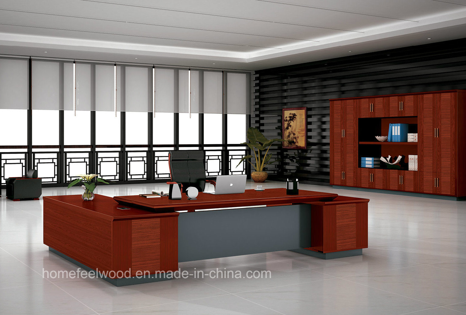 Luxury Executive Office Table Specifications Boss Office Furniture Set (HF-FB16538) & China Luxury Executive Office Table Specifications Boss Office ...