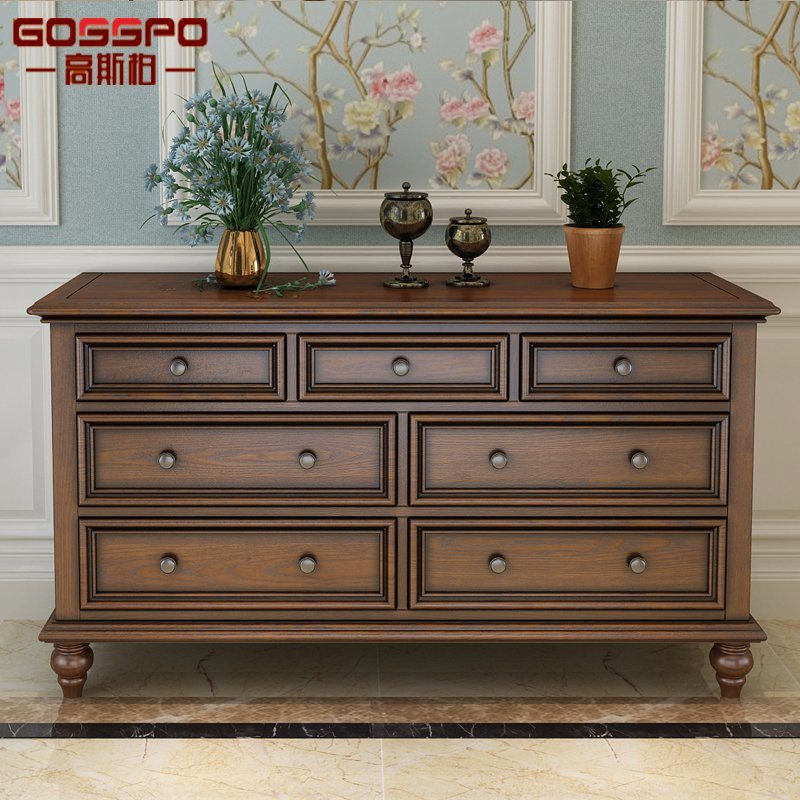 Hot Item Living Room Crafsman Wood Storage Cabinet With Drawers Gsp20 004