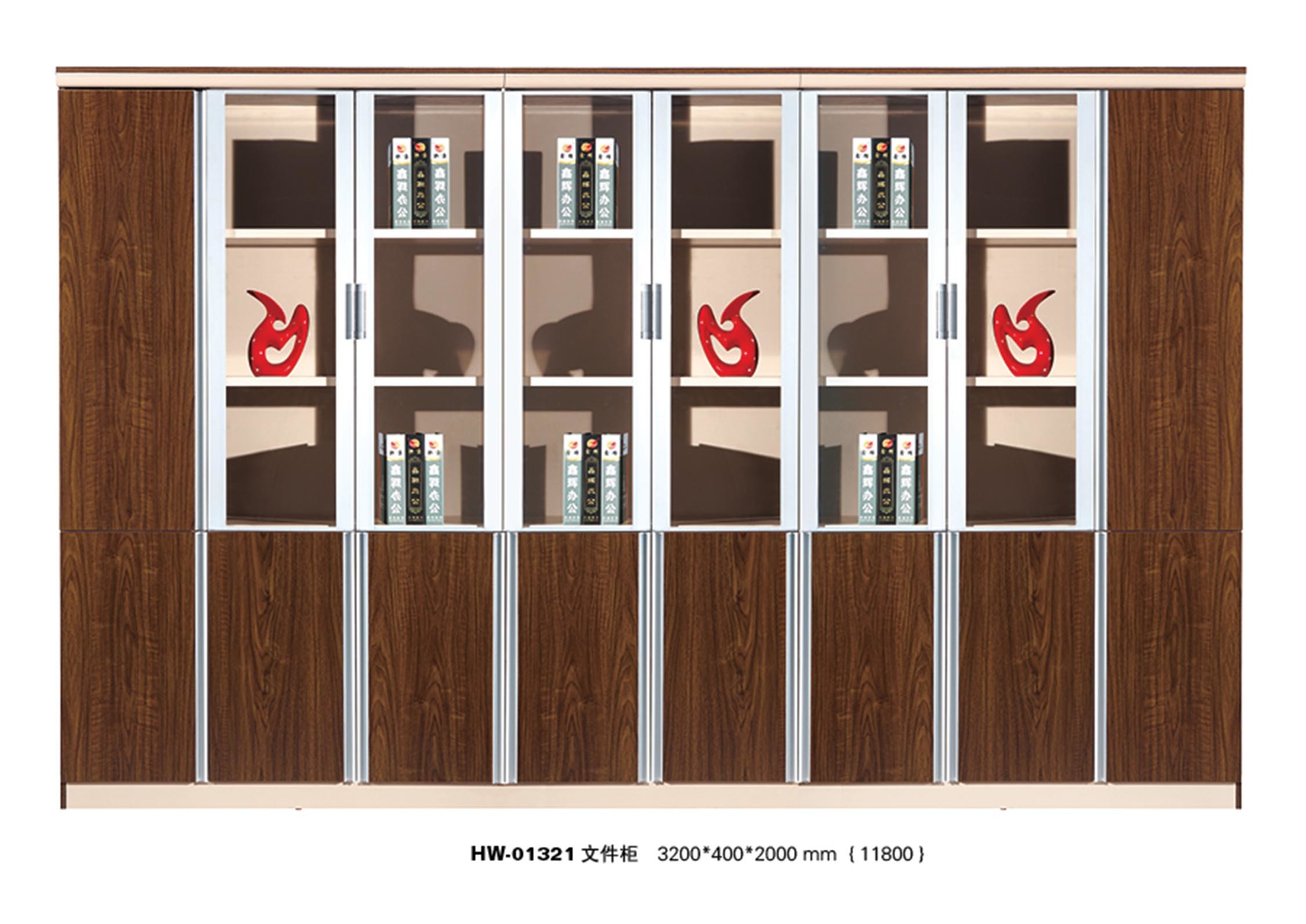 Modern Wood Home Office Wall Cabinet with Metal Frame pictures & photos