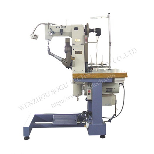 Automatic Double Thread Side Seam Industrial Shoe Sole Stitching Machine, Safety Shoe Machine