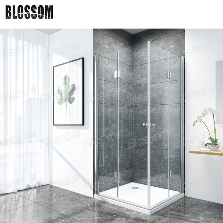 China Duschkabine Swing Door Safety Glass Pivot Hinge Shower Cabin