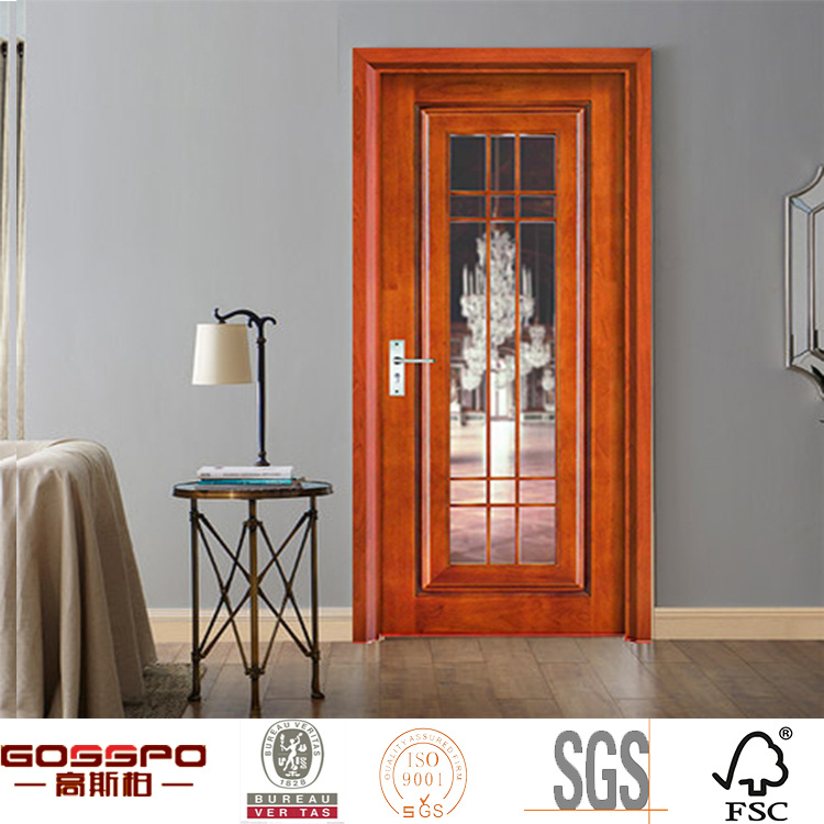 China One Panel Simple Design Glass Wood Door Gsp3 014 China