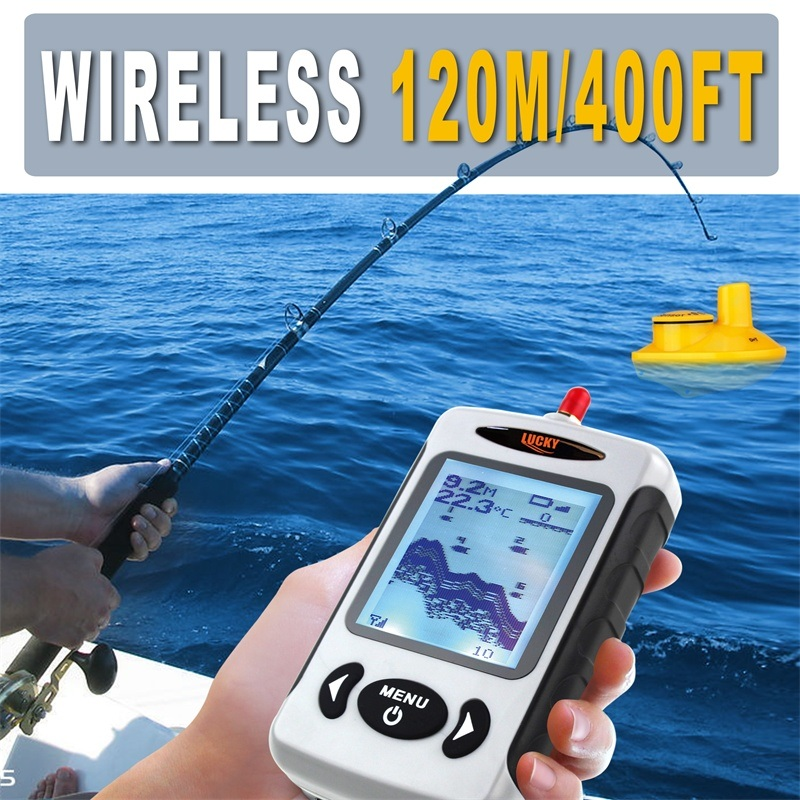 Handheld Wireless Potable Fishfinder with Fish Lamp