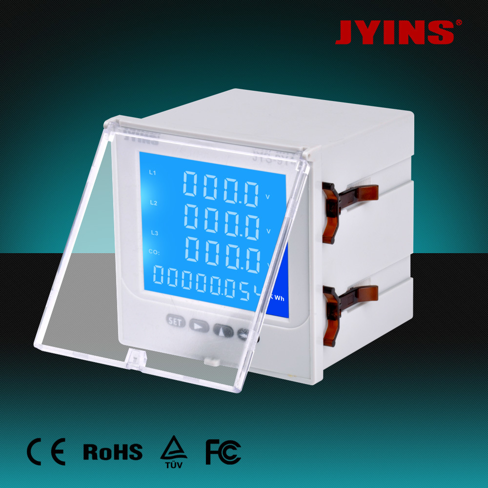 LCD Multifunctional 3 Phase Volt/Ammeter Digital Electrical/Frequency/Power/Energy Meter pictures & photos