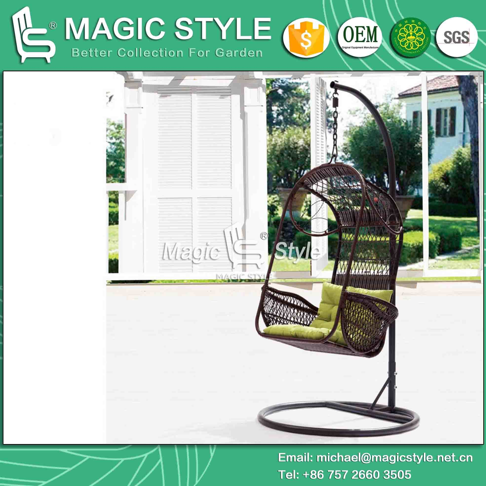 China Simple Wicker Swing Chair Outdoor Patio Hammock Magic