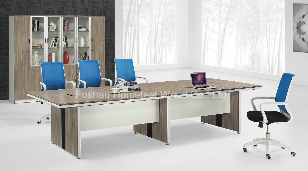 China Simple Popular Conference Table With Cable Management HF - Conference room table cable management