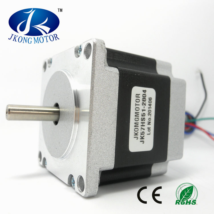 Stepper Motor NEMA23 Round Shaft Jk57hs51-2804 pictures & photos