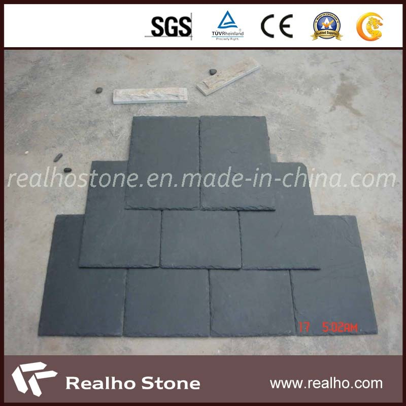 Nature Grey/Black Roofing Slate with Square /Half Round Design pictures & photos