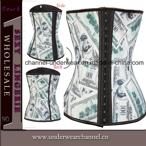 Wholesale Women 9 Steel Bonded Latex Cincher Waist Corset (TA2012)