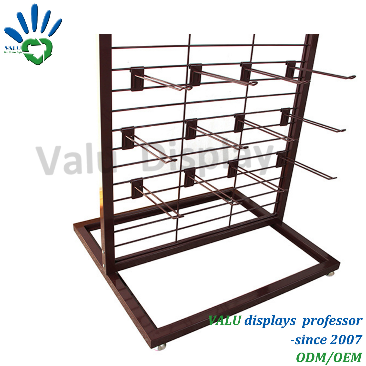 retail trays rw snack stationary silver rack display shelving p wire racks include zoom