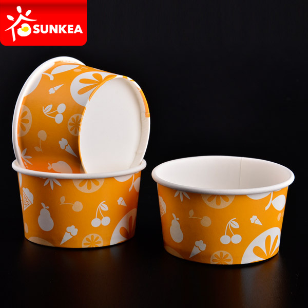 Printed Frozen Yogurt Paper Cups 8 Oz pictures & photos