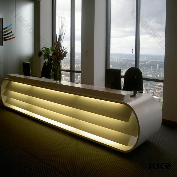 China Furniture Salon Front Office Desk White Reception