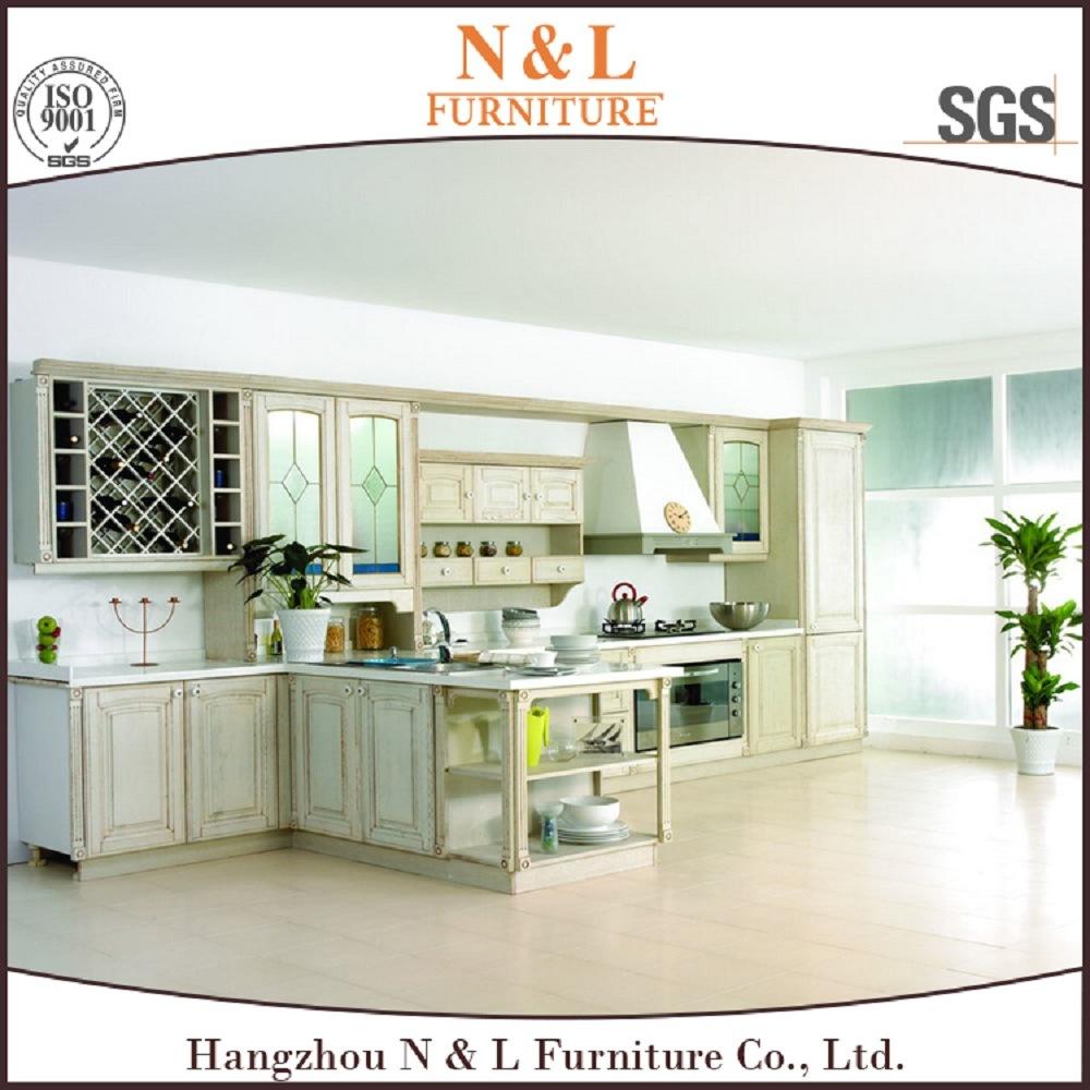 China Liner Style Antique Furniture Wood Kitchen Cabinet With Blum Handware