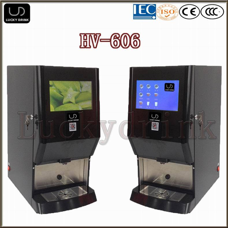 China Hv 606 Deluxe Office Use Tea Coffee Vending Machine China Coffee Vending Machine And Tea Vending Machine Price