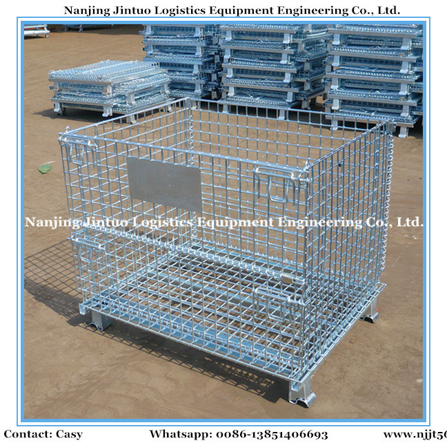 China Stackable & Collapsible Steel Wire Mesh Bin for Warehouse ...