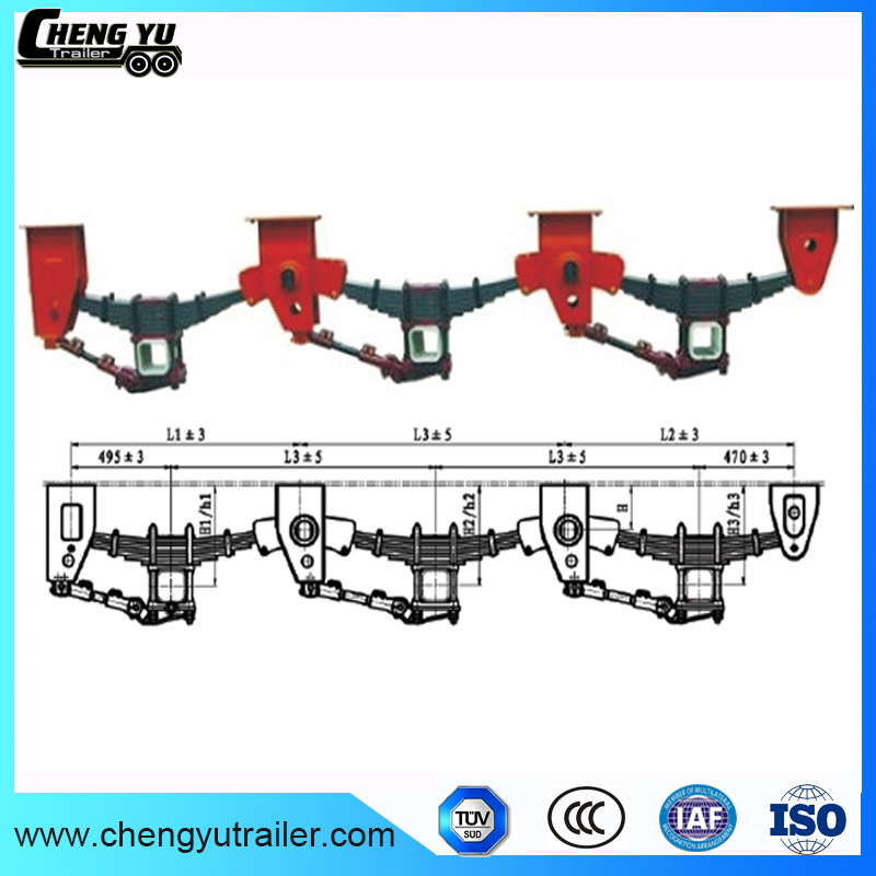 China Semi Trailer Mechanical Suspension For Heavy Duty Truck
