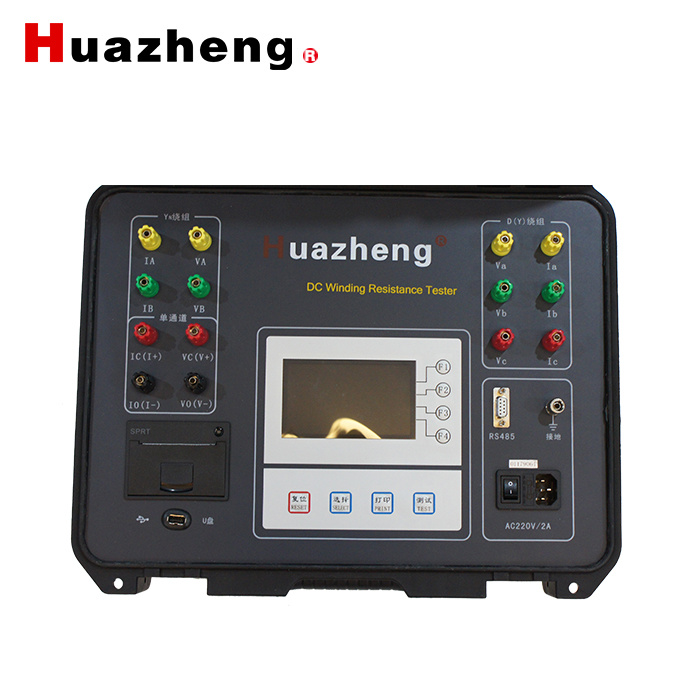 10A Power Transformer Ohmmeter DC Winding Resistance Tester 3 Channel