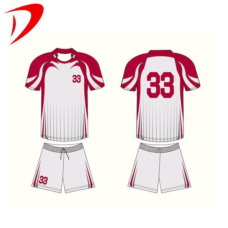 Sublimation Printing Soccer Jersey T Shirts Wear White Orange ...