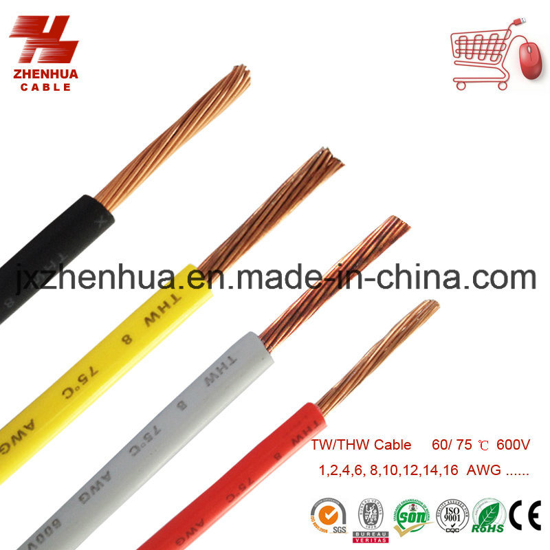 China Copper Thw Wire Cable 8AWG 10AWG, 12AWG, 14AWG - China Copper ...
