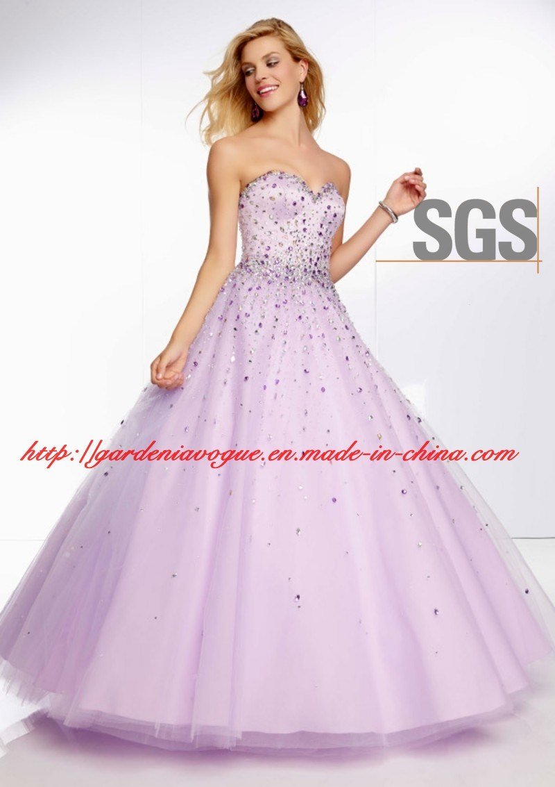 China Lavender Sweetheart Ball Gown Girl Graduation Dress , SGS ...