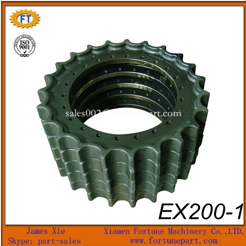 Hitachi Excavator Undercarriage Parts Gear Rim Sprocket