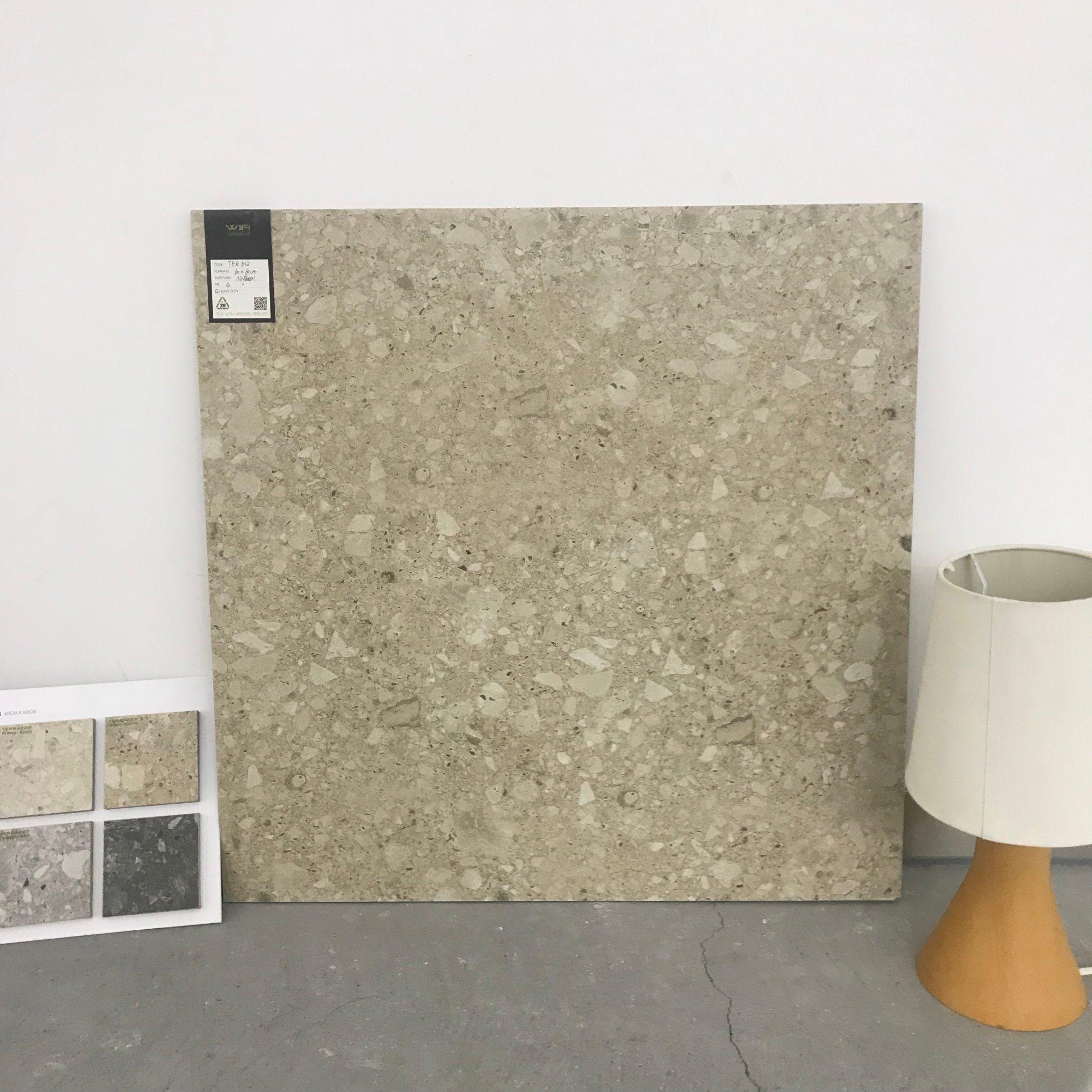 China Naturallappato Terrazzo Tile 600600mm Glazed Porcelain Floor