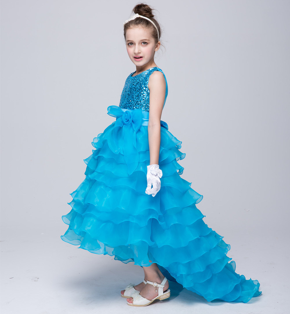 China Sequin Mesh Flower Party Wedding Gown Bridesmaid Tulle Dress ...