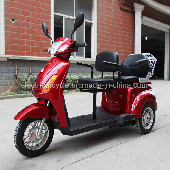 Three Wheel Two Seats Adult Electric Tricycle Scooter with Passenger Seat pictures & photos