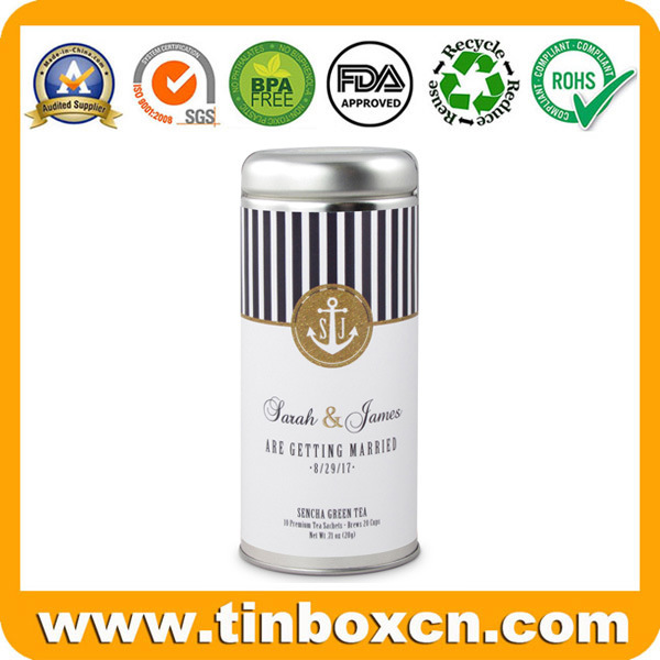 Round Metal Tin Tea Can for Tea Caddy Packaging Box pictures & photos