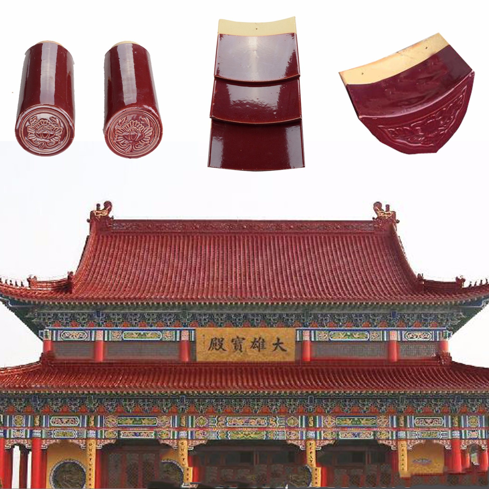 China Terracotta Red Glazed Clay Roof Tiles For Sale China Clay