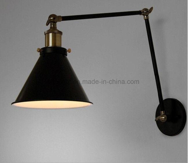 Hot Item Black Vintage E27 Swing Arm Bedroom Reading Wall Mounted Lights